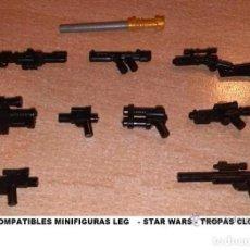 Reproducciones Figuras de Acción: LOTE DE ARMAS STAR WAR PARA MINIFIGURAS CUSTOM COMPATIBLES ALEGORICAS / ARMY GUN. Lote 272434368