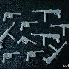 Reproducciones Figuras de Acción: LOTE 10 ARMAS COMPATIBLES GUN CUSTOM WEAPON WWII ALEMANIA - JUGAR CON LAS FIGURAS PLAYMOBIL. Lote 295586958