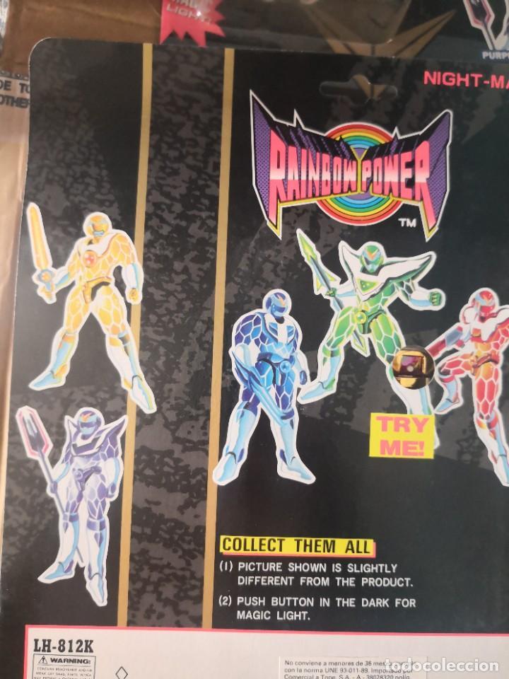 Reproducciones Figuras de Acción: 4 Figuras repro rangers coleccionables RAINBOW POWER, EN BLISTER, A ESTRENAR. BLISTER ..11 ctmos - Foto 6 - 289806748