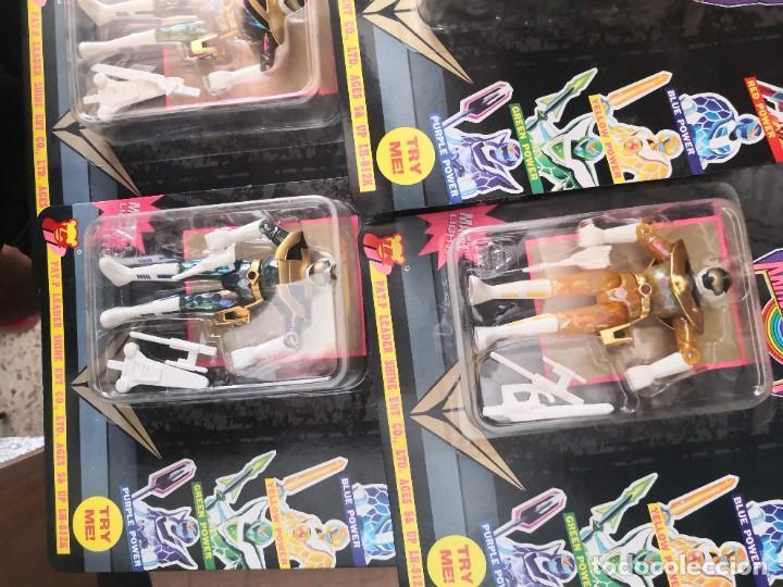 Reproducciones Figuras de Acción: 4 Figuras repro rangers coleccionables RAINBOW POWER, EN BLISTER, A ESTRENAR. BLISTER ..11 ctmos - Foto 2 - 289806908
