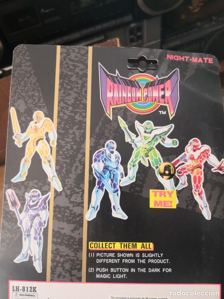 Reproducciones Figuras de Acción: 4 Figuras repro rangers coleccionables RAINBOW POWER, EN BLISTER, A ESTRENAR. BLISTER ..11 ctmos - Foto 3 - 289806908