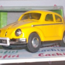 Juguetes antiguos de hojalata: VW BEETLE DE HOJALATA DE FRICCION MIDE 13 LARGO X 6 ANCHO CM. BONITA. Lote 36029423