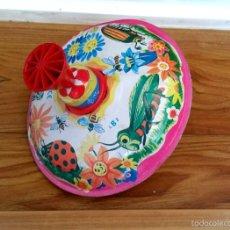 Juguetes antiguos de hojalata: PEONZA. Lote 57584773