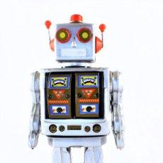 Juguetes antiguos de hojalata: ROBOT DE HOJALATA. ELECTRÓN.. Lote 85521100