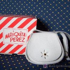 Reproducciones Muñecas Españolas: MARIQUITA PEREZ - RARO BOLSO DE PIEL BLANCO ****DESCATALOGADO**** EN CAJA ORIGINAL A ESTRENAR. Lote 27196490