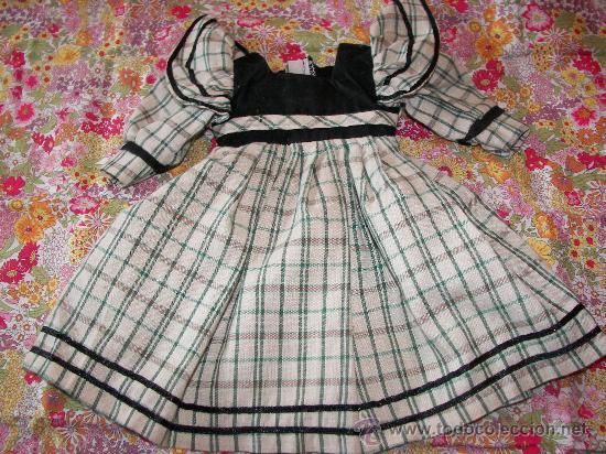 ANTIGUO VESTIDO MUÑECA (Juguetes - Reproducciones Vestidos y Accesorios Muñeca Española Moderna)