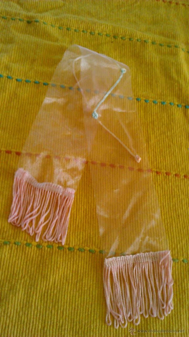Reproducciones Muñecas Españolas: Precioso fular de tul con florecitas y flecos para Nancy - Foto 2 - 42996064