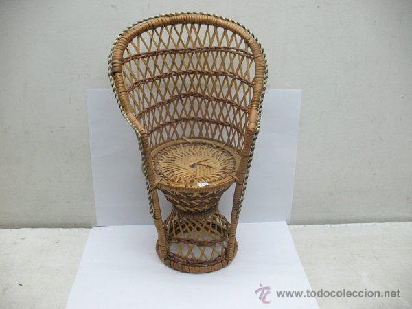 SILLA DE MIMBRE PARA MUÑECA (Juguetes - Reproducciones Vestidos y Accesorios Muñeca Española Moderna)