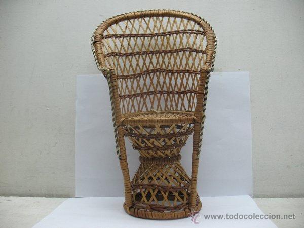 Reproducciones Muñecas Españolas: Silla de mimbre para muñeca - Foto 2 - 44235960