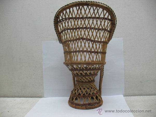 Reproducciones Muñecas Españolas: Silla de mimbre para muñeca - Foto 3 - 44235960