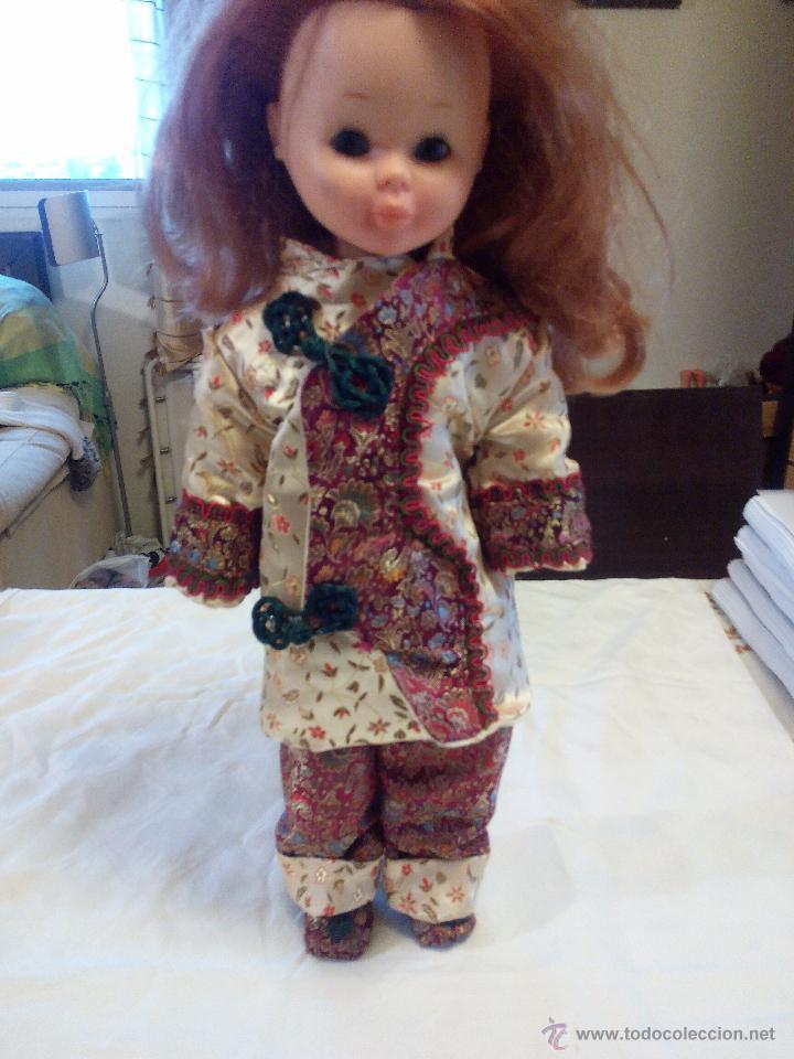 Reproducciones Muñecas Españolas: Precioso traje de geisha para nancy. pantalón,chaquetilla y zapatos todo hecho en seda.Precioso. - Foto 2 - 49047476