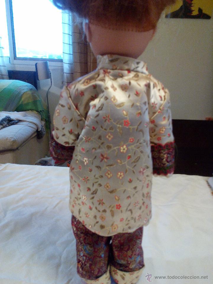 Reproducciones Muñecas Españolas: Precioso traje de geisha para nancy. pantalón,chaquetilla y zapatos todo hecho en seda.Precioso. - Foto 3 - 49047476