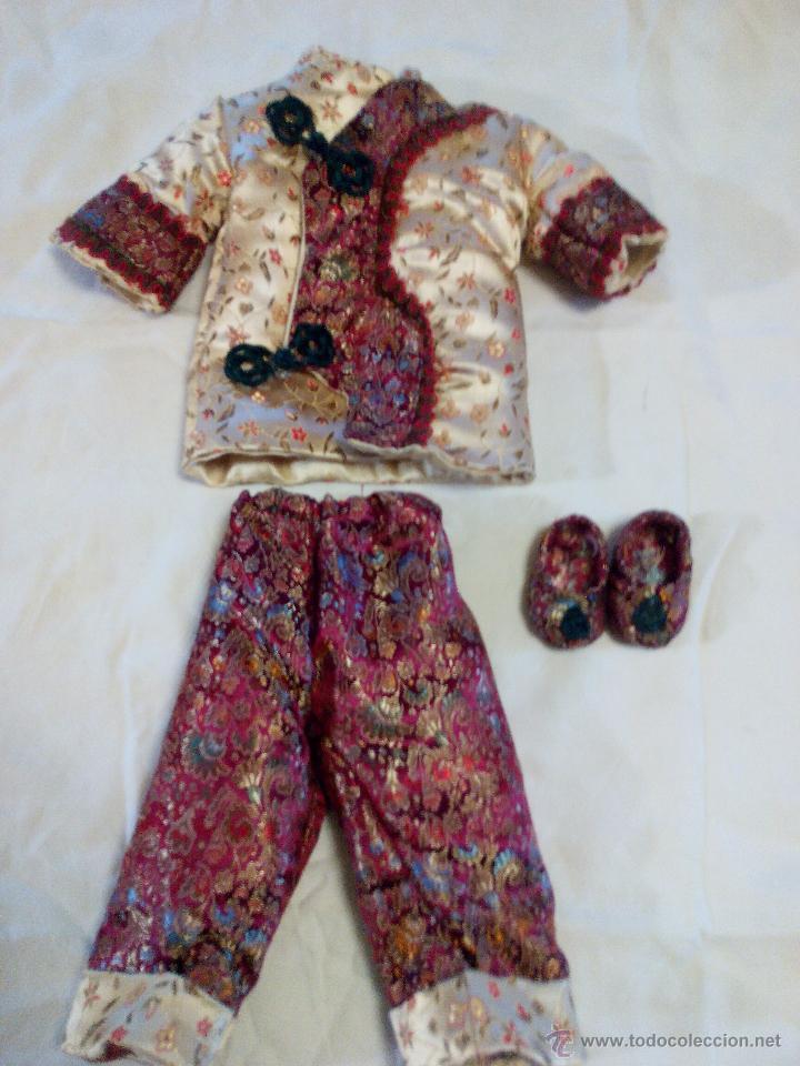 Reproducciones Muñecas Españolas: Precioso traje de geisha para nancy. pantalón,chaquetilla y zapatos todo hecho en seda.Precioso. - Foto 4 - 49047476