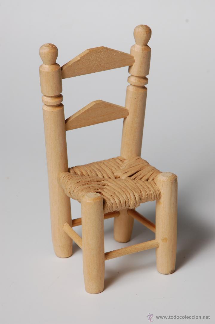 Silla de madera y trenzado de enea artesania e comprar for Utensilios de hogar