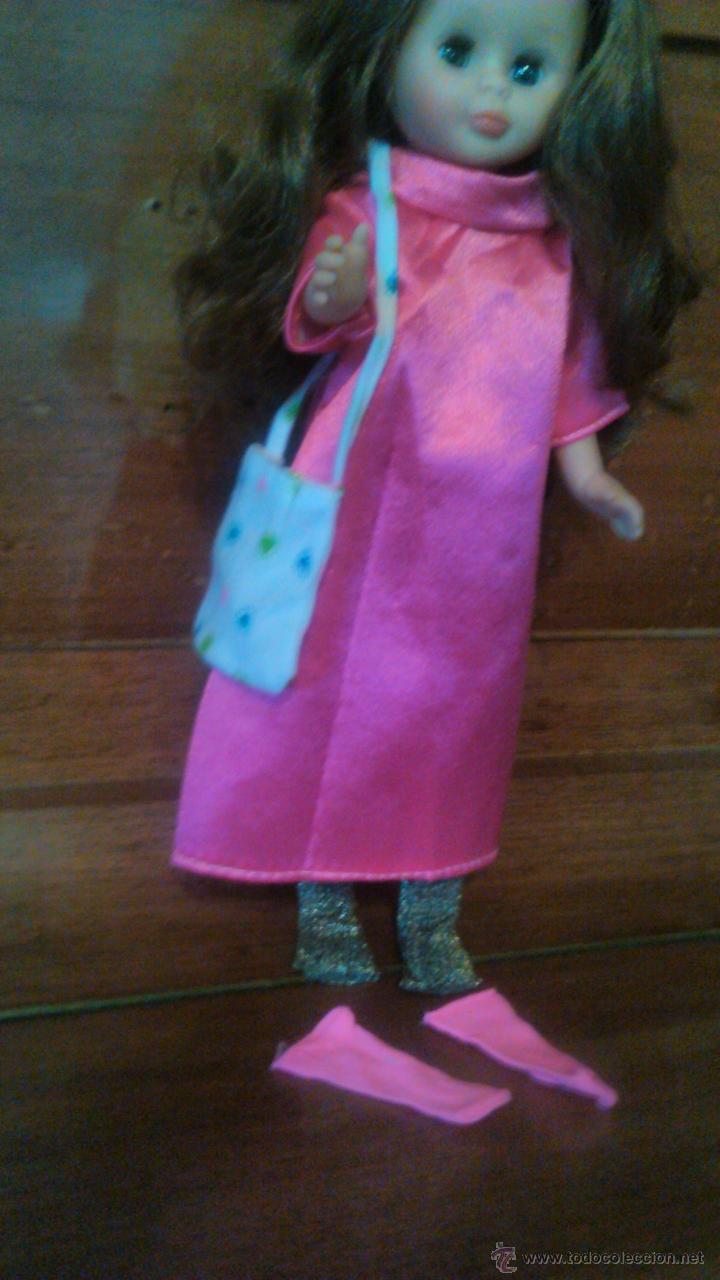 Reproducciones Muñecas Españolas: PRECIOSO vestido maxi largo rosa vivo con bolso,medias y calcetines PARA NANCY O PEPA. - Foto 2 - 54147733