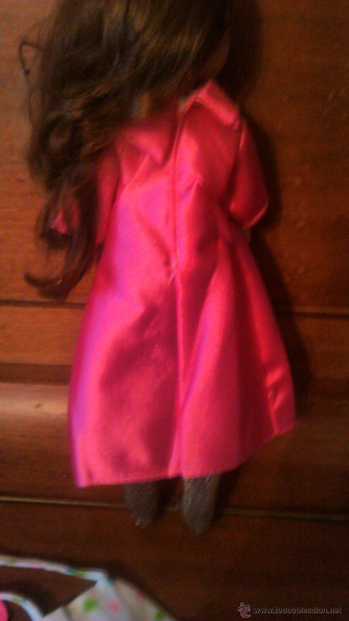 Reproducciones Muñecas Españolas: PRECIOSO vestido maxi largo rosa vivo con bolso,medias y calcetines PARA NANCY O PEPA. - Foto 3 - 54147733