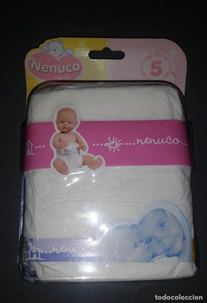 PACK 5 PAÑALES PARA MUÑECO NENUCO FAMOSA (Juguetes - Reproducciones Vestidos y Accesorios Muñeca Española Moderna)