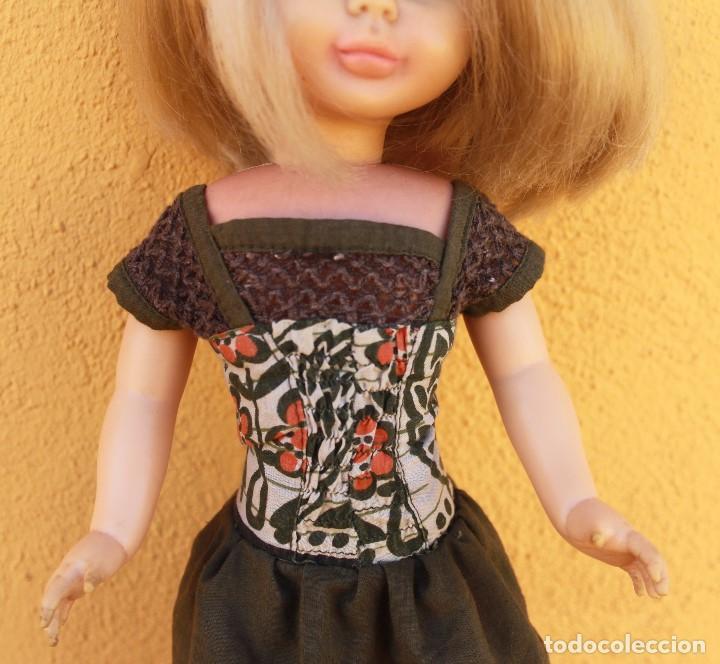 Reproducciones Muñecas Españolas: Recreación de vestido largo para Nancy, forrado y con ganchillo - Foto 2 - 137201922