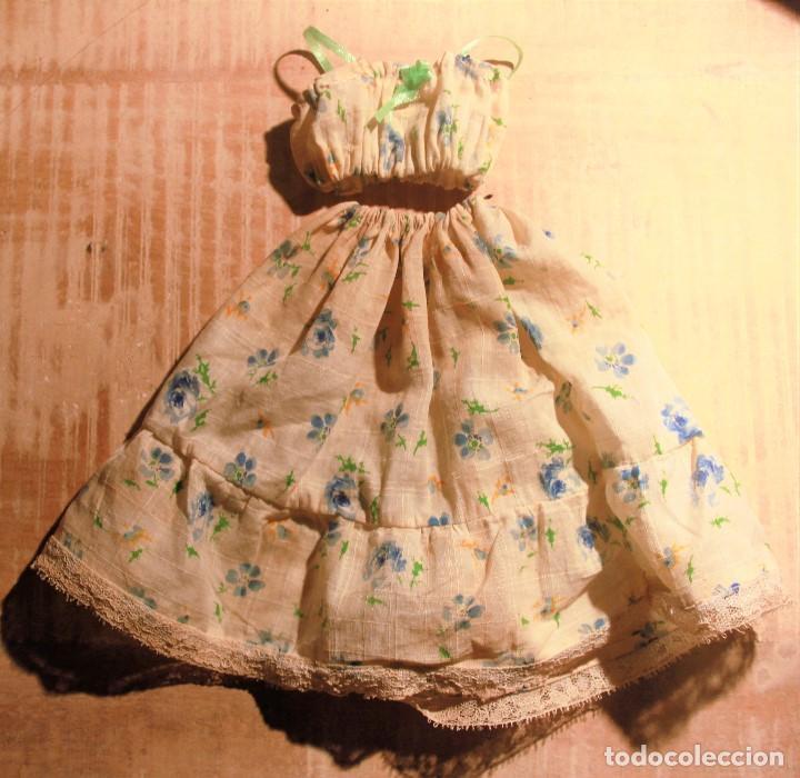 Reproducciones Muñecas Españolas: Vestido antiguo de rosas azules para Nancy - Foto 2 - 138051238