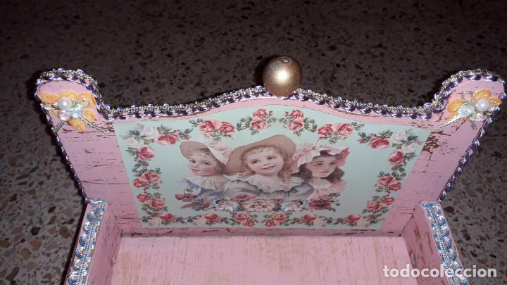 Reproducciones Muñecas Españolas: CUNA MUñECA DE MADERA ESTILO BARROCO, JUGUETE ARTESANO, MUñECA ACTUAL - Foto 16 - 145121322