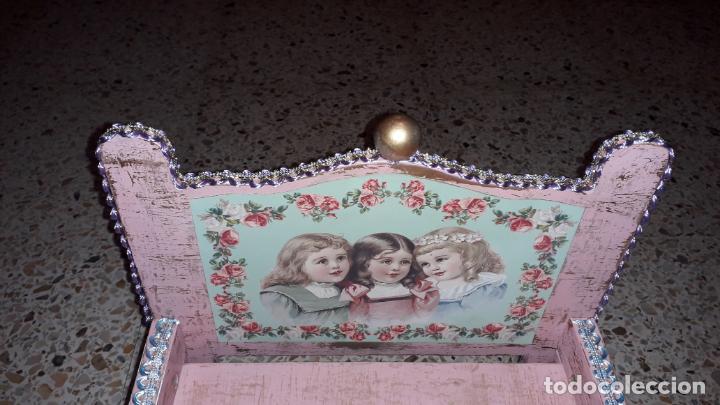 Reproducciones Muñecas Españolas: CUNA MUñECA DE MADERA ESTILO BARROCO, JUGUETE ARTESANO, MUñECA ACTUAL - Foto 19 - 145121322