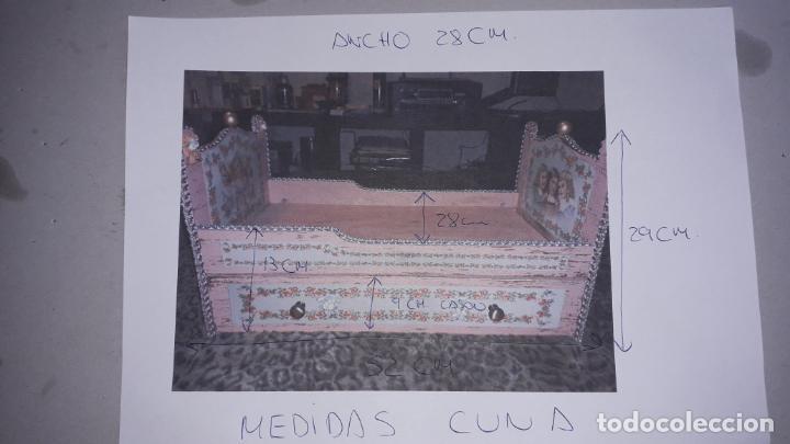Reproducciones Muñecas Españolas: CUNA MUñECA DE MADERA ESTILO BARROCO, JUGUETE ARTESANO, MUñECA ACTUAL - Foto 48 - 145121322