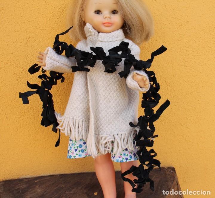 Reproducciones Muñecas Españolas: Boa negra de flecos de piel para Nancy - Foto 4 - 155805170