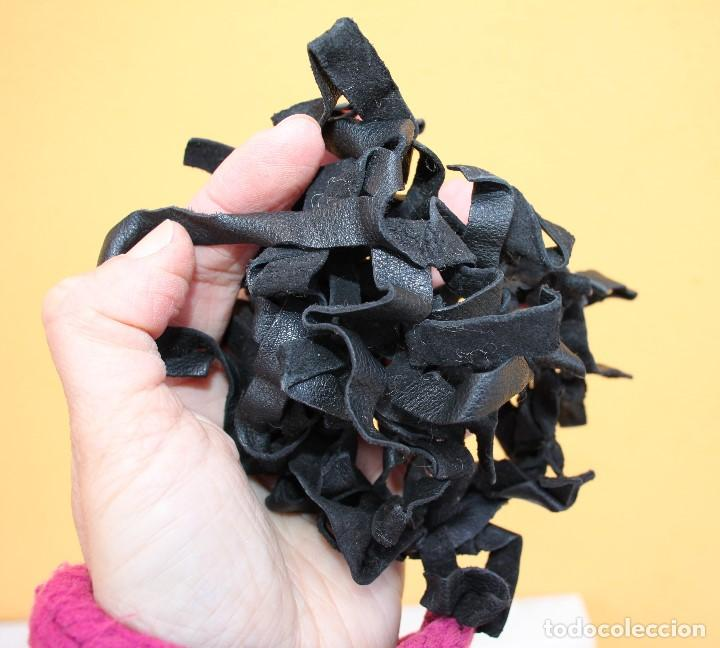 Reproducciones Muñecas Españolas: Boa negra de flecos de piel para Nancy - Foto 6 - 155805170