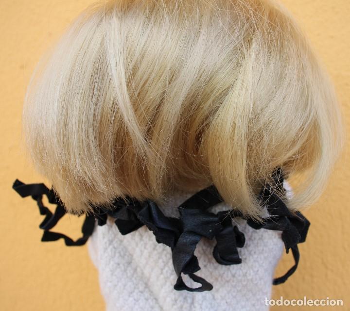 Reproducciones Muñecas Españolas: Boa negra de flecos de piel para Nancy - Foto 7 - 155805170