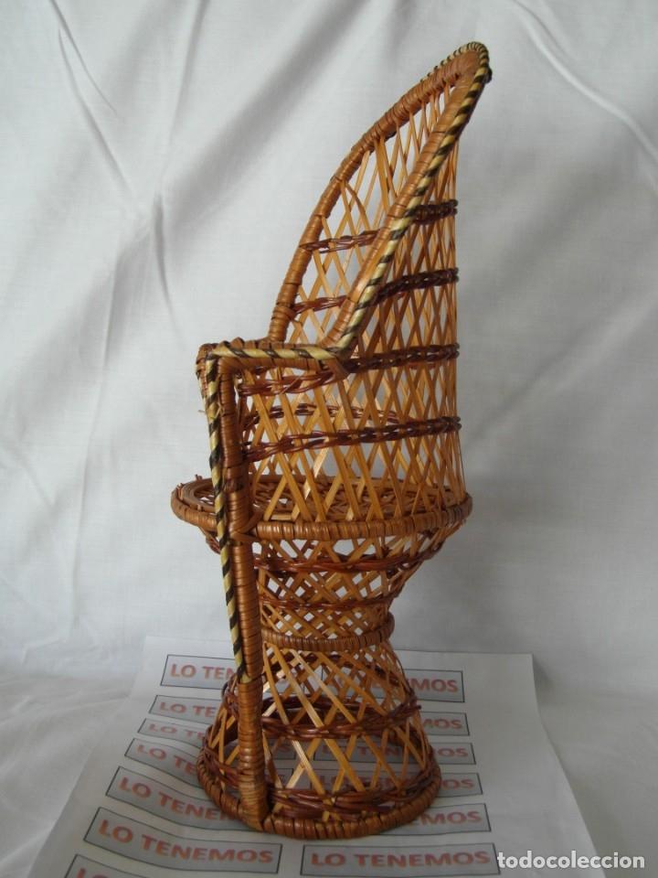 Reproducciones Muñecas Españolas: Bonito Sillon de mimbre para poder lucir a tus preciosas niñas.(sillón para muñecas) - Foto 2 - 172129845