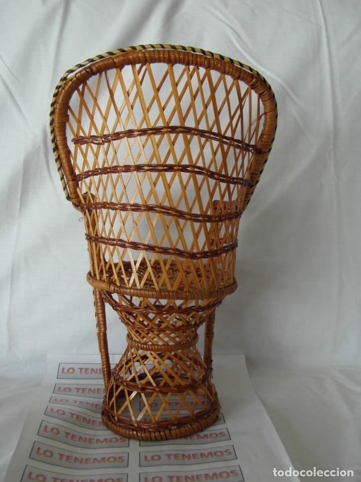 Reproducciones Muñecas Españolas: Bonito Sillon de mimbre para poder lucir a tus preciosas niñas.(sillón para muñecas) - Foto 3 - 172129845