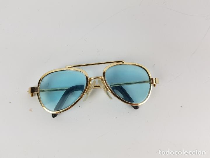 Reproducciones Muñecas Españolas: gafas tipo aviador para muñeca nancy - azules - Foto 2 - 194100333