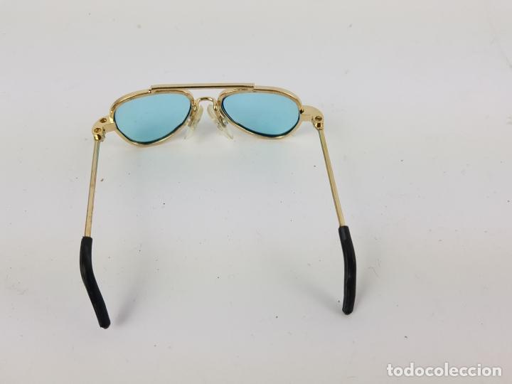 Reproducciones Muñecas Españolas: gafas tipo aviador para muñeca nancy - azules - Foto 4 - 194100333