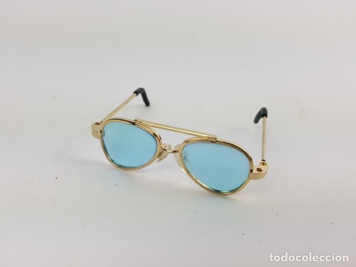 Reproducciones Muñecas Españolas: gafas tipo aviador para muñeca nancy - azules - Foto 3 - 194100333