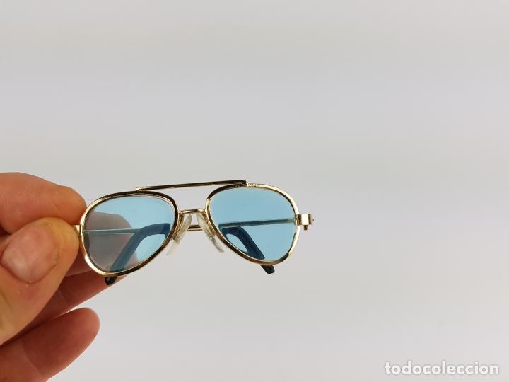 Reproducciones Muñecas Españolas: gafas tipo aviador para muñeca nancy - azules - Foto 5 - 194100333