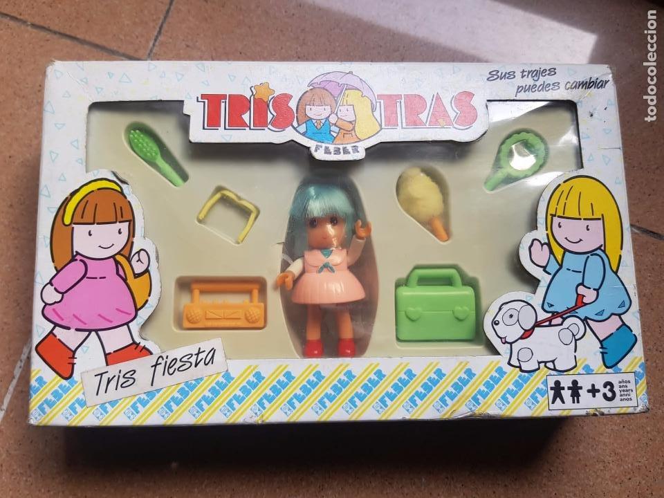 TRIS TRAS DE FEBER EN CAJA ORIGINAL (Juguetes - Reproducciones Vestidos y Accesorios Muñeca Española Moderna)