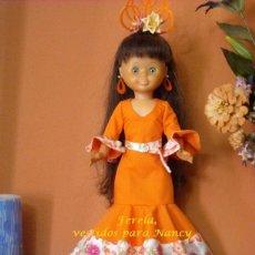 Reproducciones Muñecas Españolas: VESTIDO DE FLAMENCA PARA NANCY. Lote 204975018