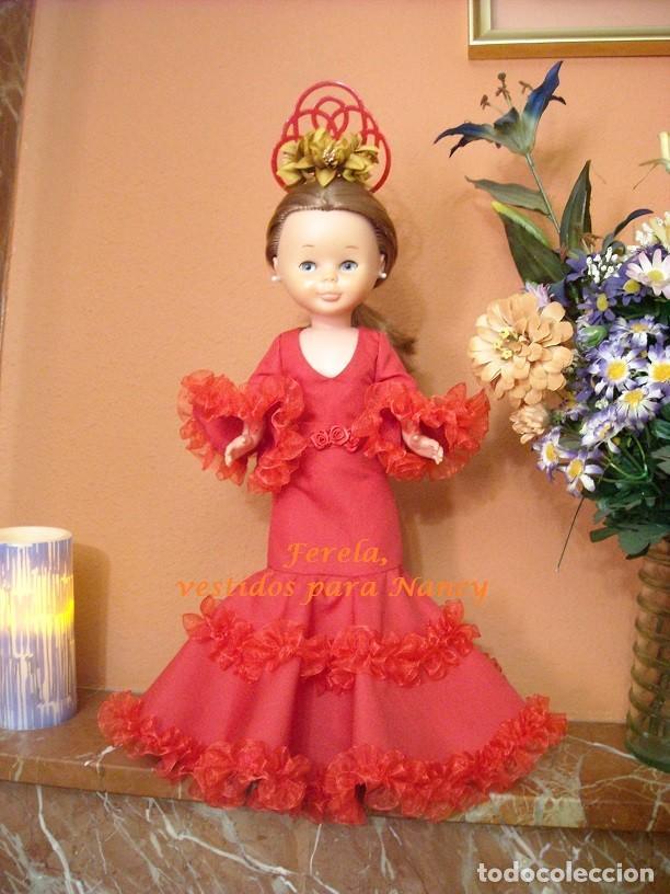 VESTIDO DE FLAMENCA PARA NANCY (Juguetes - Reproducciones Vestidos y Accesorios Muñeca Española Moderna)
