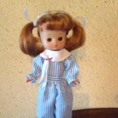Reproduções Bonecas Espanholas: LESLY : RÉPLICA DE DIFÍCIL MONO A RAYAS. Lote 212219732