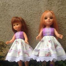 Reproduções Bonecas Espanholas: NANCY : VESTIDO AIRES ROMANTICOS PARA NANCY NEW Y CLÁSICA TONOS LILAS. Lote 227260935