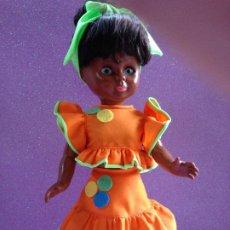 Reproduções Bonecas Espanholas: NANCY: REPLICA CONJUNTO CUBANA EN NARANJA. Lote 234399350