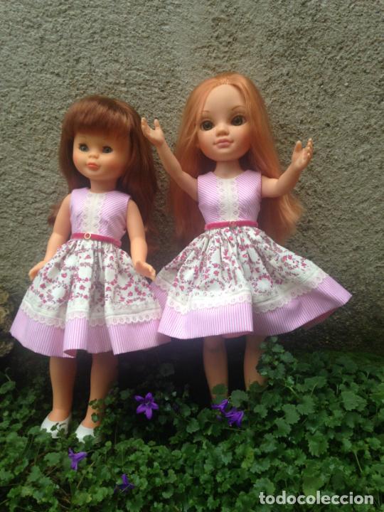 NANCY : VESTIDO AIRES ROMANTICOS PARA NANCY NEW Y CLÁSICA TONOS ROSAS (Juguetes - Reproducciones Vestidos y Accesorios Muñeca Española Moderna)