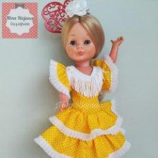 Reproduções Bonecas Espanholas: VESTIDO GITANA/GITANILLA AMARILLO NANCY DE FAMOSA. Lote 238003185