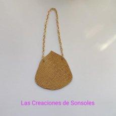 Reproducciones Muñecas Españolas: BOLSO DE PIEL ESTILO UNIVERSIDAD PARA NANCY. Lote 244710130