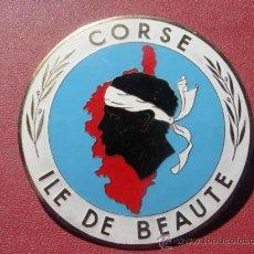 Coches y Motocicletas: PLACA-CHAPA PARA COCHE - CORSE - ILE DE BEAUTÉ. Lote 24236109