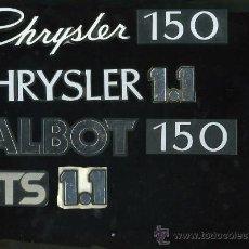 Coches y Motocicletas: LOGOTIPOS , INSIGNIAS DE CHRYSLER, TALBOT. Lote 13430546