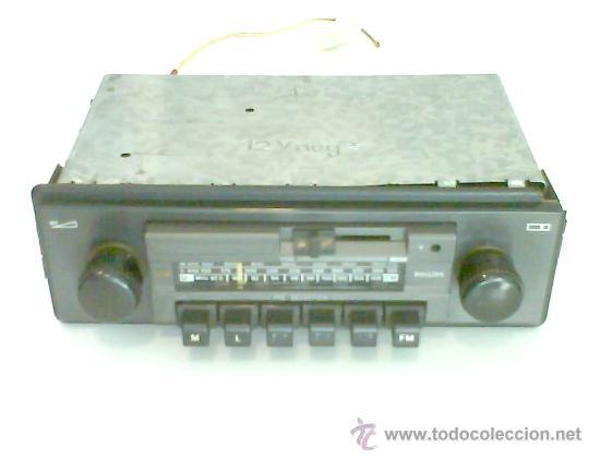 RADIO PHILIPS DE COCHE, DE LOS DE ANTES, FUNCIONANDO (Coches y Motocicletas - Repuestos y Piezas (antiguos y clásicos))