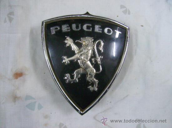 ESCUDO DE PEUGEOT -ALUMINIO -ANAGRAMA (Coches y Motocicletas - Repuestos y Piezas (antiguos y clásicos))