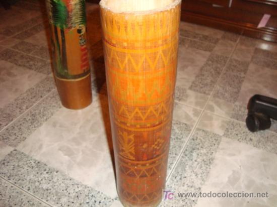 Coches y Motocicletas: jarron bambu, hecho a mano, , 41 cm alto x 9,5 diametro - Foto 2 - 15858503