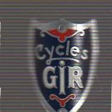 Coches y Motocicletas: PLACA O CHAPA -MARCA DE BICICLETA -CYCLES GIR. Lote 18212011